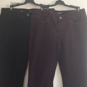 2 pairs Loft corduroy women's pants